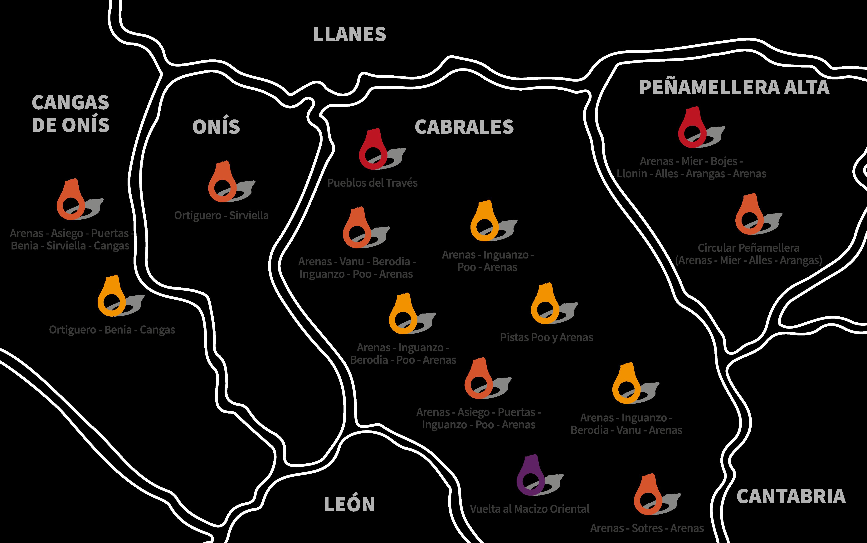 Alquiler de bicicletas Picos de Europa rutas